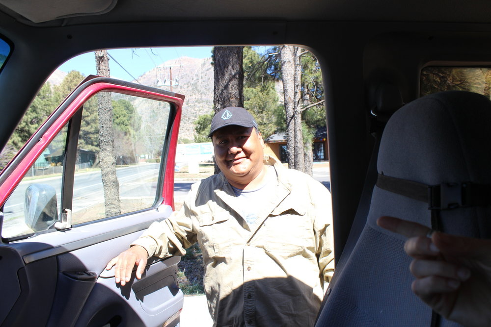 Blake hitchhiked with us from Tuba City, Navajo Nation to Flagstaff.