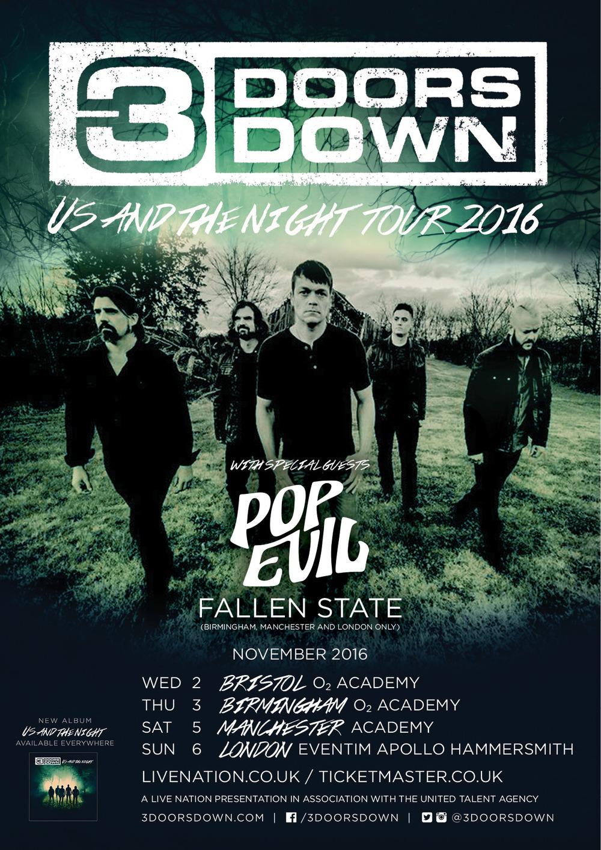 3 Doors Down UK Tour
