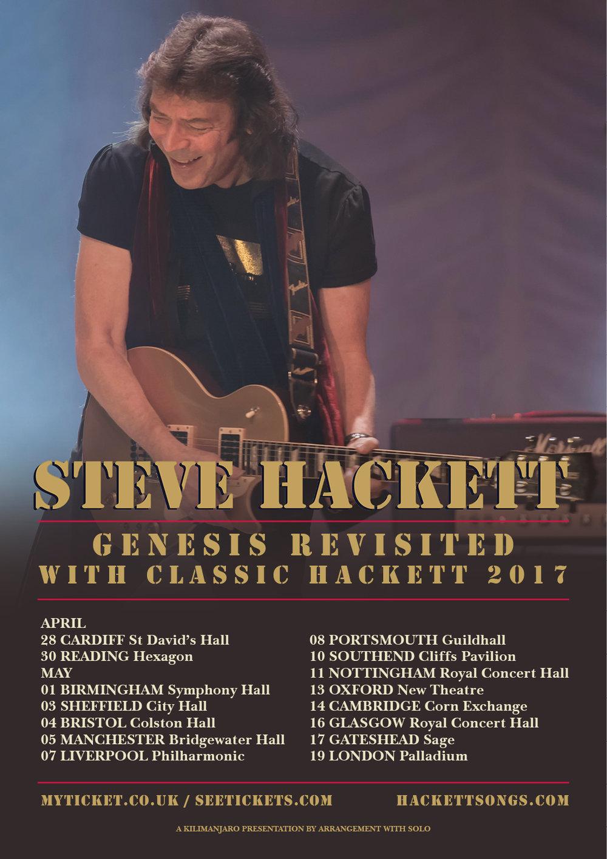 Steve Hackett 2017 tour