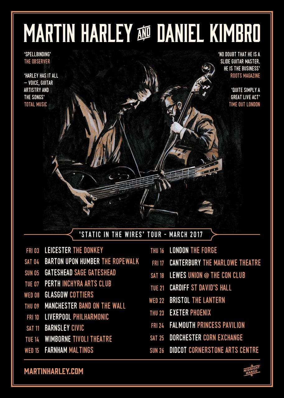 Martin Harley and Daniel Kimbro - Static In The Wires UK Tour — Red ...