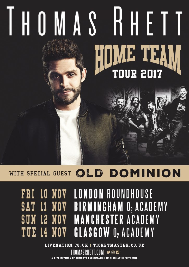 Thomas Rhett 2017 UK Tour