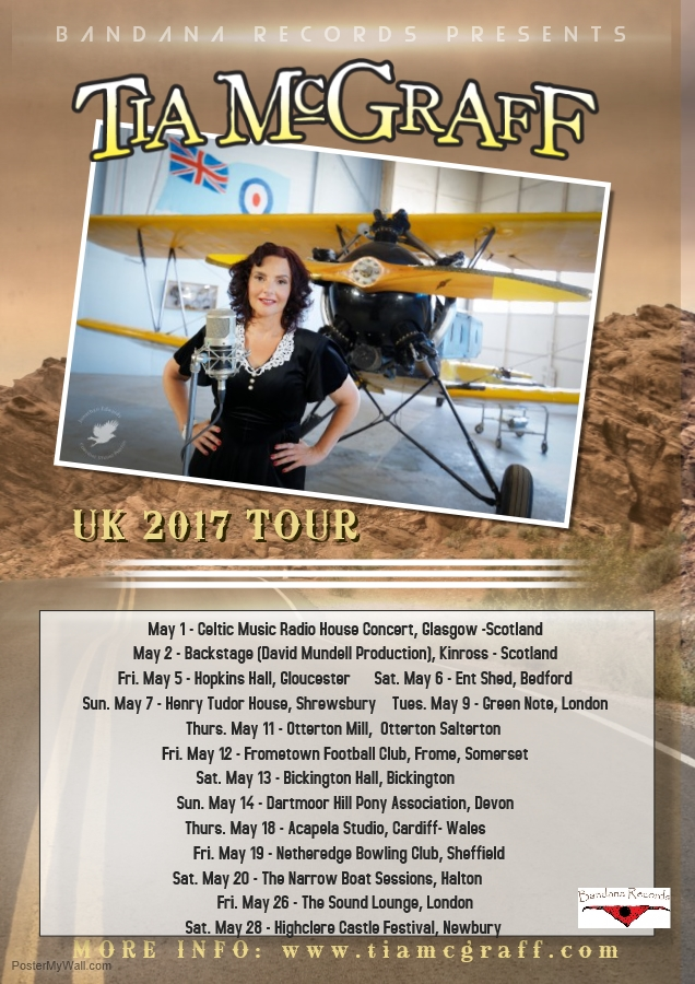 Tia McGraff UK Tour 2017