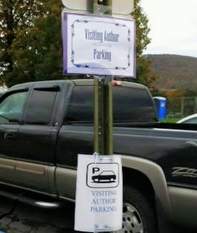 Martha really appreciated the VIP parking at Newport Elementary School.