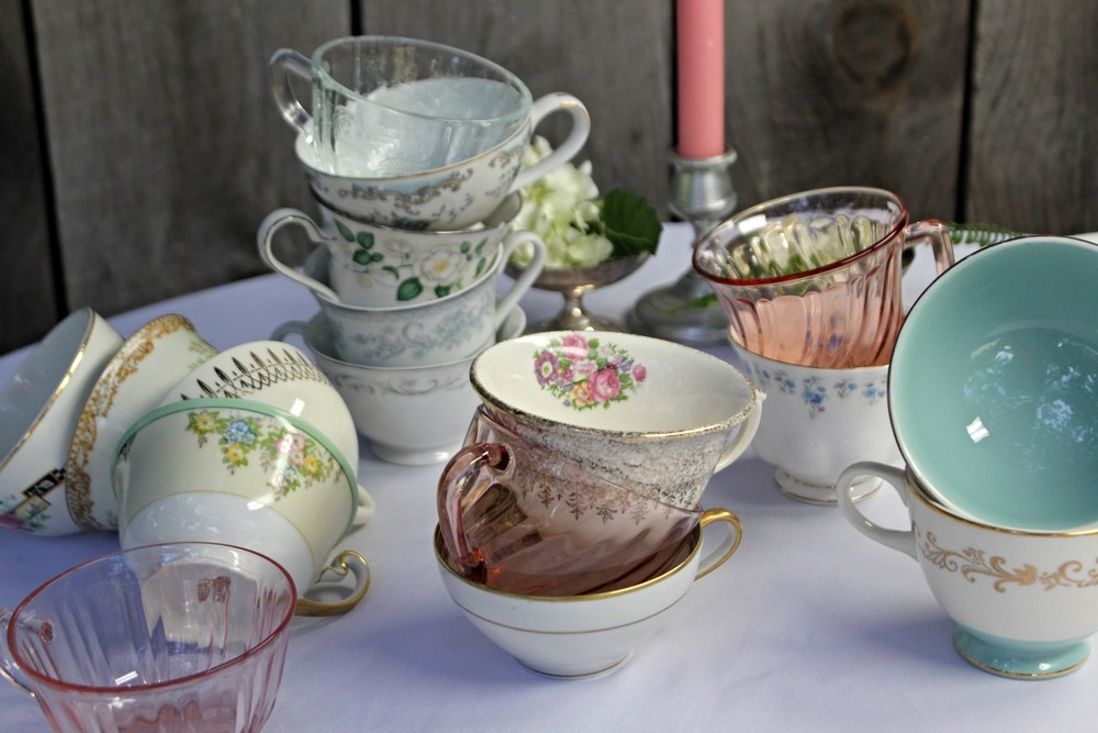 Mismatched Tea cups and Saucers