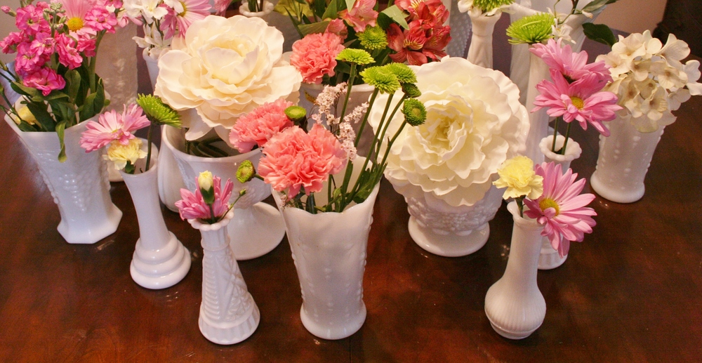 Milk Glass Bud Vases - $1-2 each