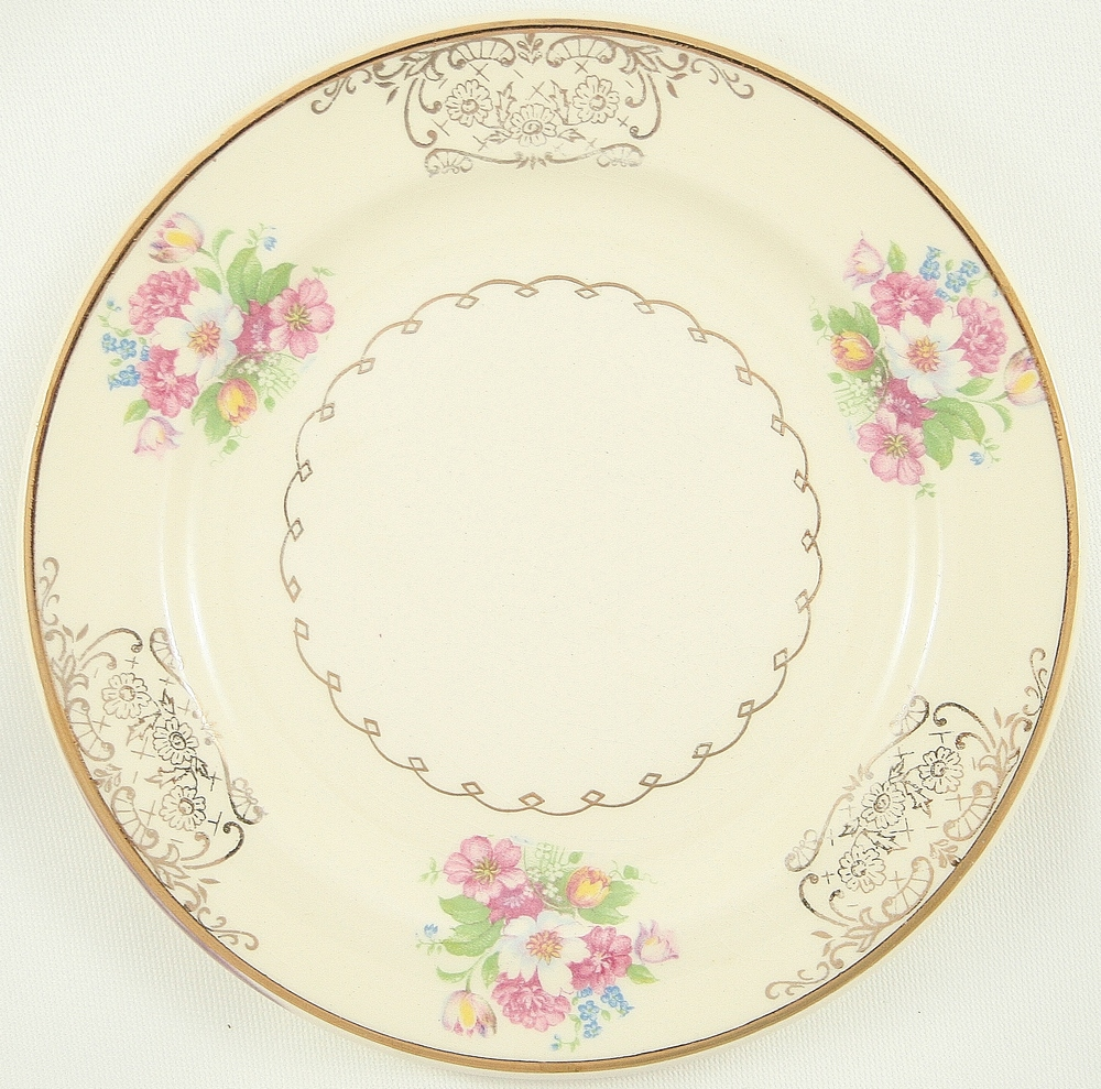 Vintage pink china plate