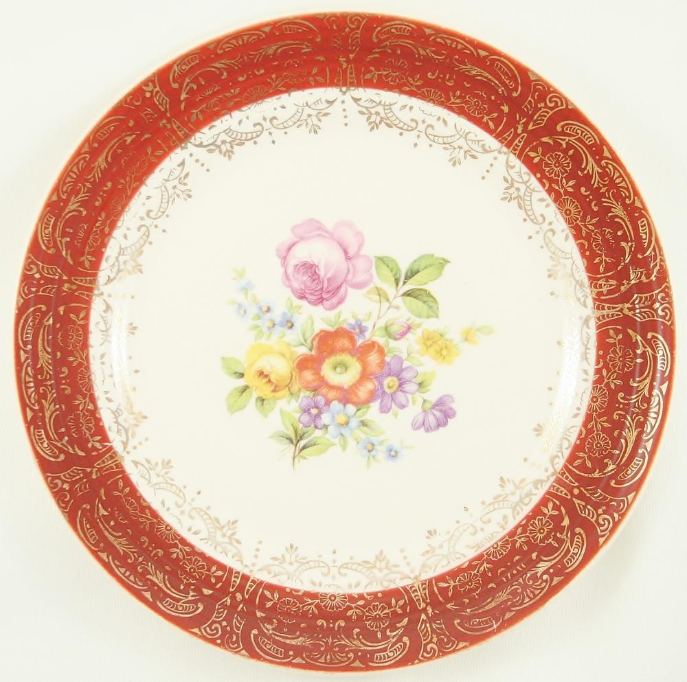 Tangerine - Meissen Rose Pattern