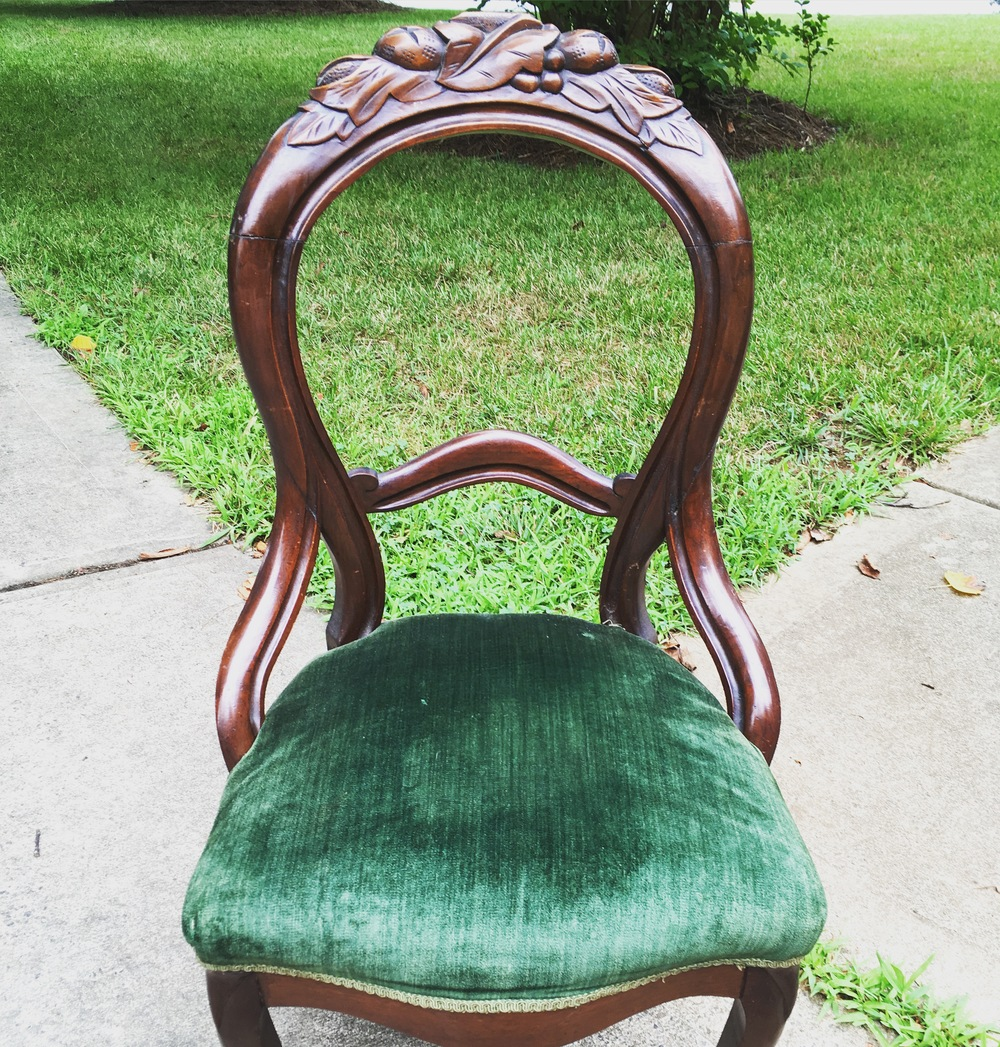 Green Victorian Chairs (2)