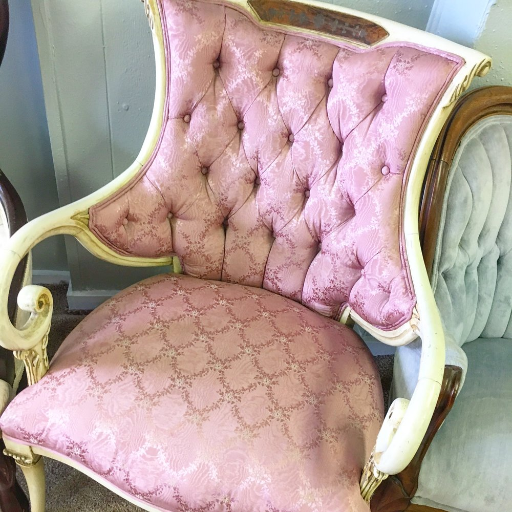 Pink French Chairs  (2)