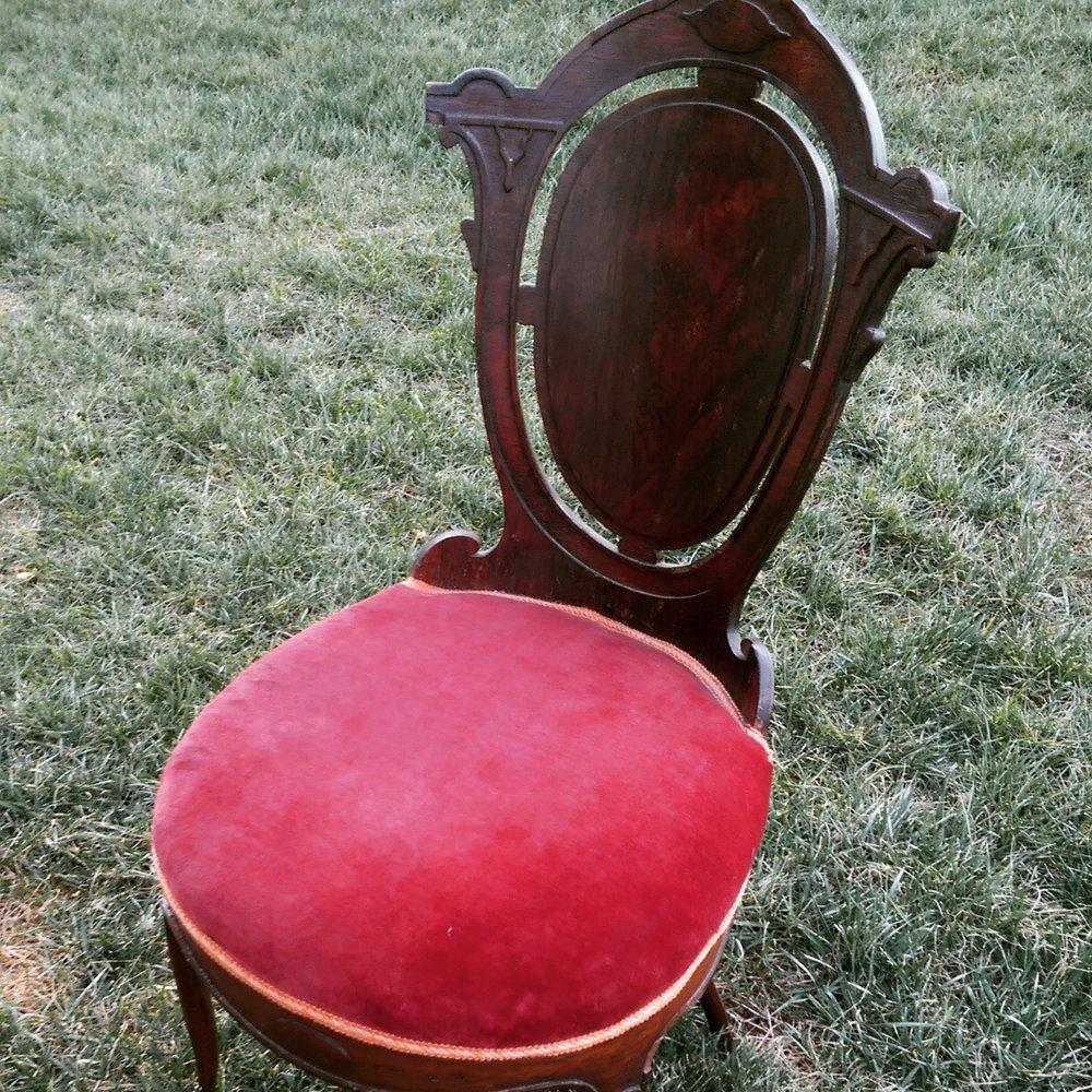 Victorian Burgundy Chair (1)