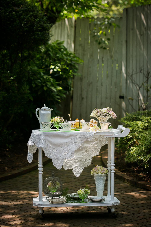White Tea Cart