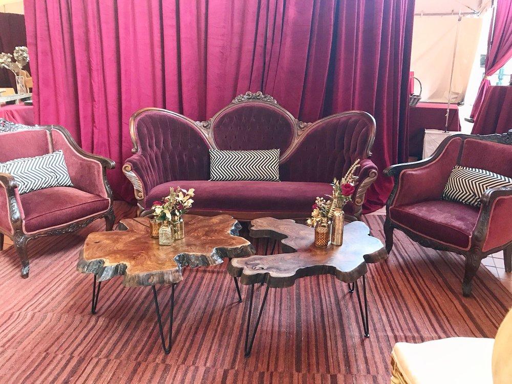 Burgundy Victorian Sofa