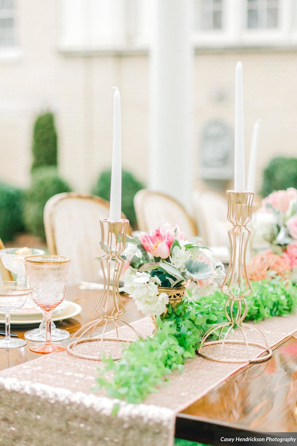 Geometric Gold Candle Holders