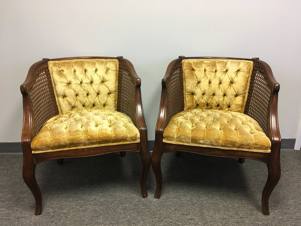Gold Tufted Chairs