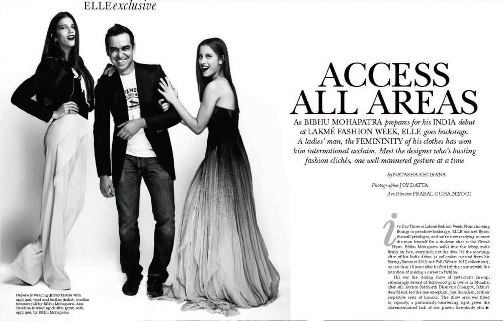 Bibhu Mohapatra - Elle - April 2012