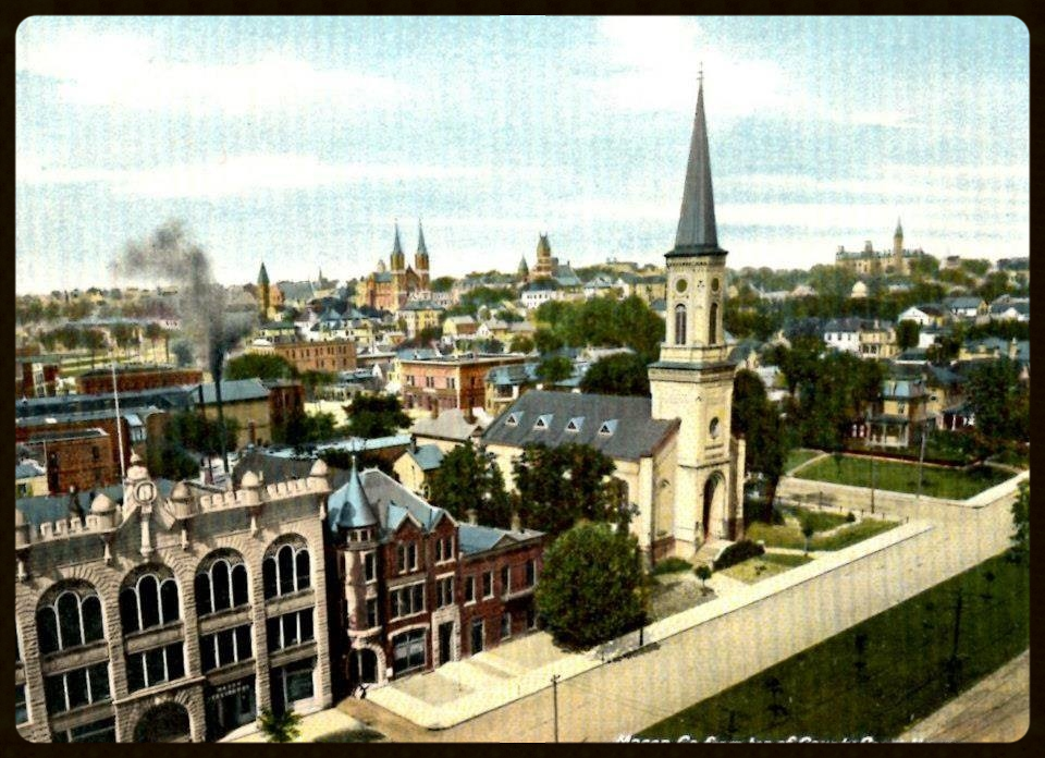 Historic Postcard featuring the Old Macon Library