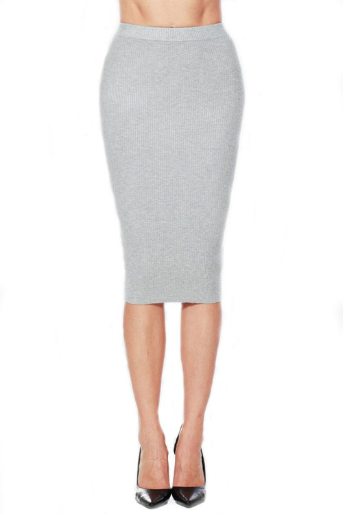 Knit Pencil Skirt - Dress Ala