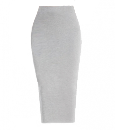 Knitted Fitted Pencil Skirt - Grey — Love|Labels