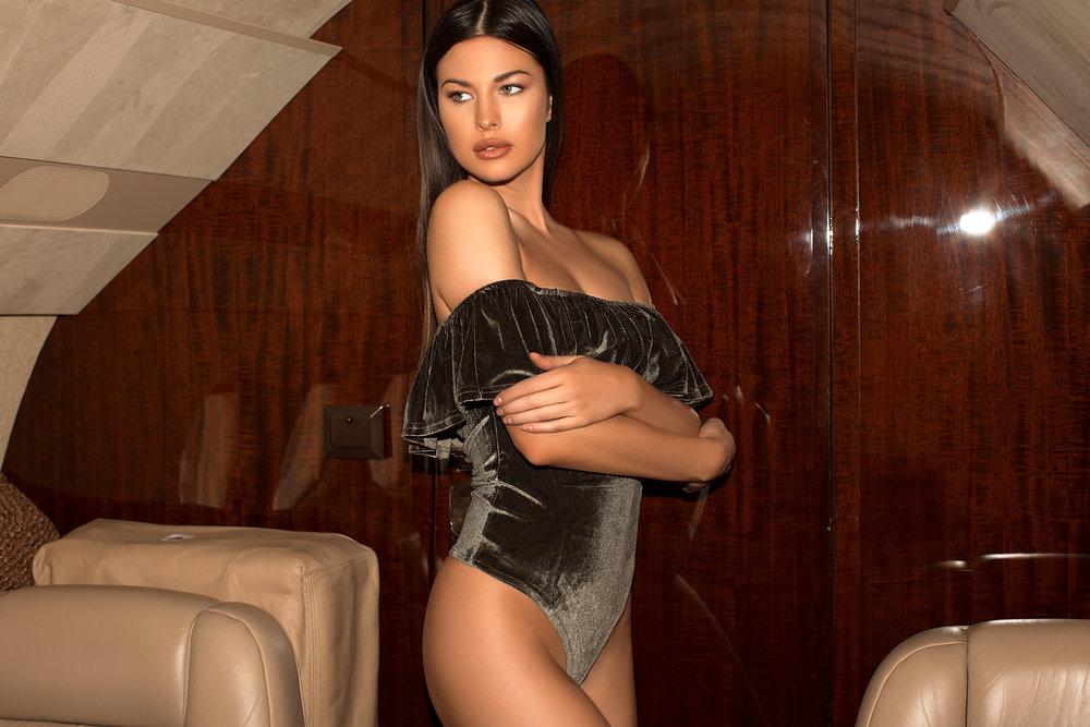 Velvet Flounce Bodysuit