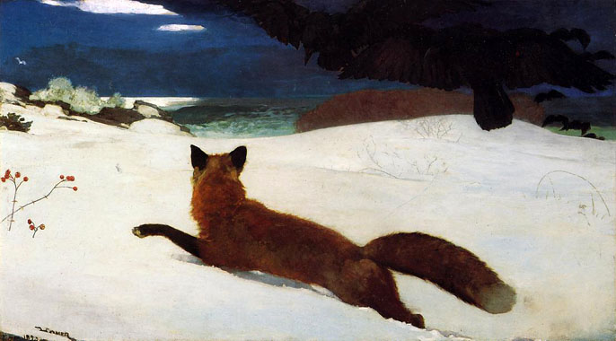 Winslow Homer -  Fox Hunt  (1893)