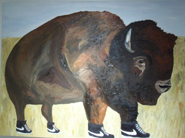 Big Sky. Never Stop Running. Buffalo Bill.   Noah Charles Weissman-  Sitting Bull  (oil: 72 x 48')