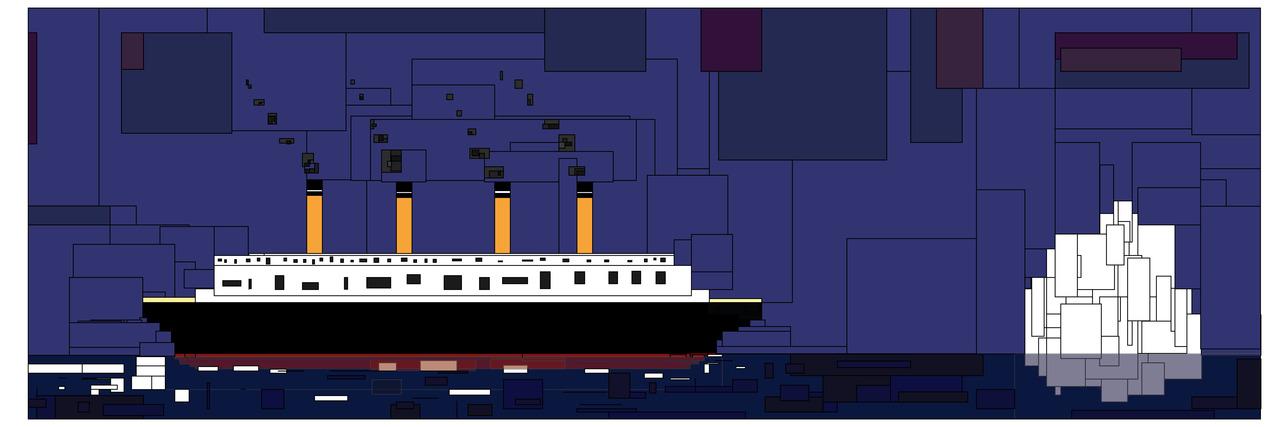 Miss Titanic and her Iceburg    by Noah Charles Weissman    (9000 x 3000pi)