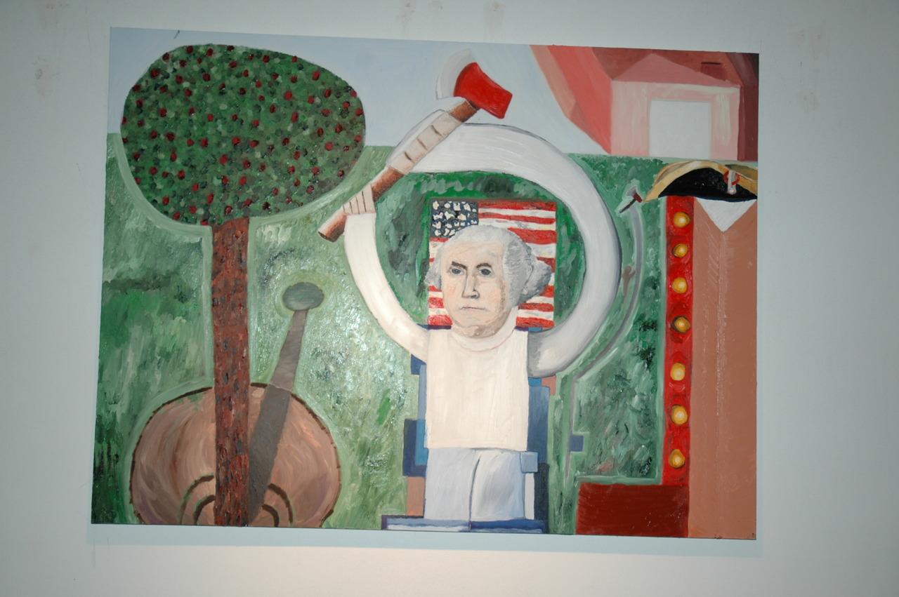 chop chop.   Noah Charles Weissman -  Cherry Tree George  ( 72 x 48 ')