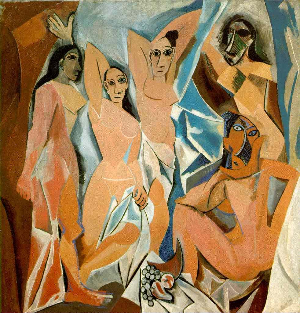 "Pablo Picasso ""Las señoritas de Avignon"""