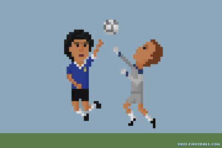 0211 :     Hand of God - Maradonna   8bit Football - The world of football in 8 bits