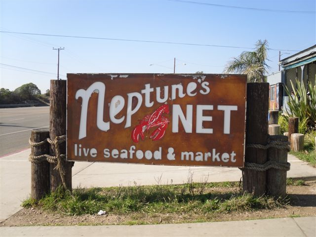 harpoon some biddies and head to neptune's net (malibu, ca): factually the best fried sea food in the nation of stars and stripes (can also be seen in the rich man's chuck norris/vin diesel classic the fast and the furious): http://www.neptunesnet.com/ ancient knowledge: http://en.wikipedia.org/wiki/Neptune_(mythology)