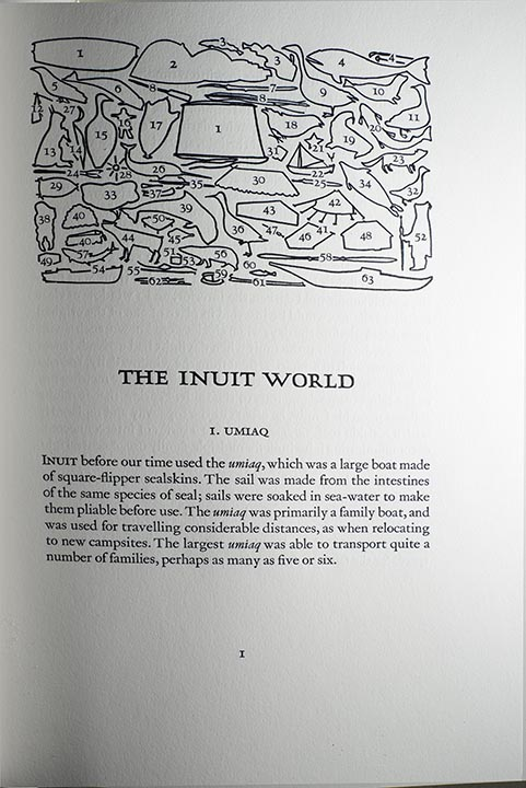 "This is another Kananginak illustrated project that Wil oversaw, ""The Inuit World"""
