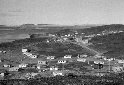 "Cape Dorset, view of ""the valley"" circa 1973-75. Photo courtesy Tessa MacIntosh"