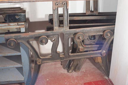 Two old Fuchs and Lang lithography presses in storage as well.