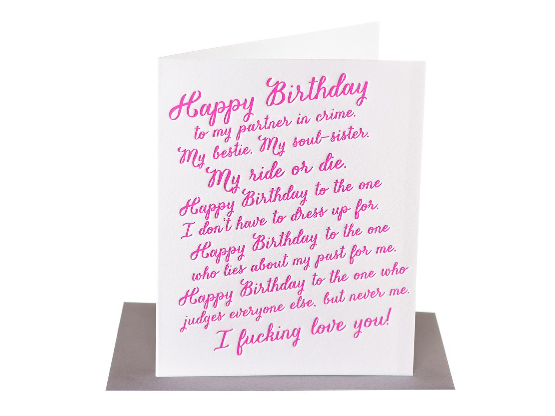 Happy Birthday To My Bestie Ride Or Die Paper Epiphanies