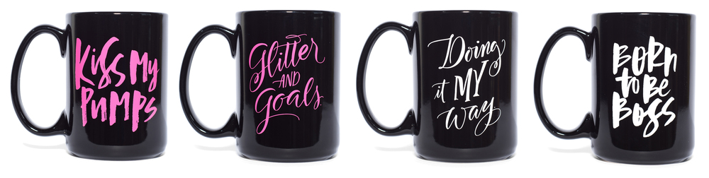 Kiss My Pumps mugs by Paper Epiphanies