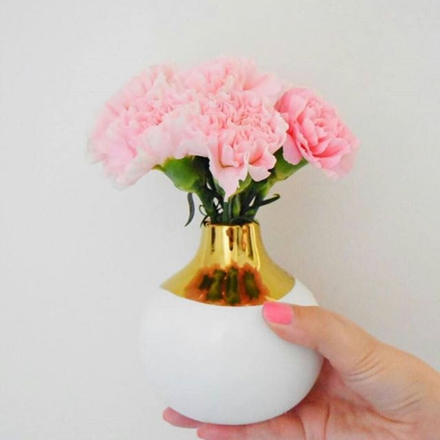 Get up and smell the roses!... or carnations. Carnations are good, too. Wait, who are we kidding?! Forget the carnations, and perfectly manicured hands, LOOK at that Dauville Vase. Give me December and the #25 because that bold metallic glaze is screaming holiday cheer. Bring on the winter decor, joy tunes and egg nog... there HAS to be egg nog. #canvashome #dauvillebudvase #flowers #giftguidematerial #falalalala #wherestheholidaycheer