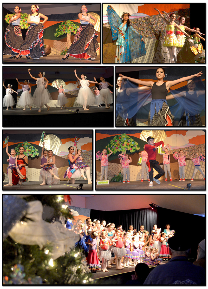 Evening performance.  On-stage images by The Merritt Herald.