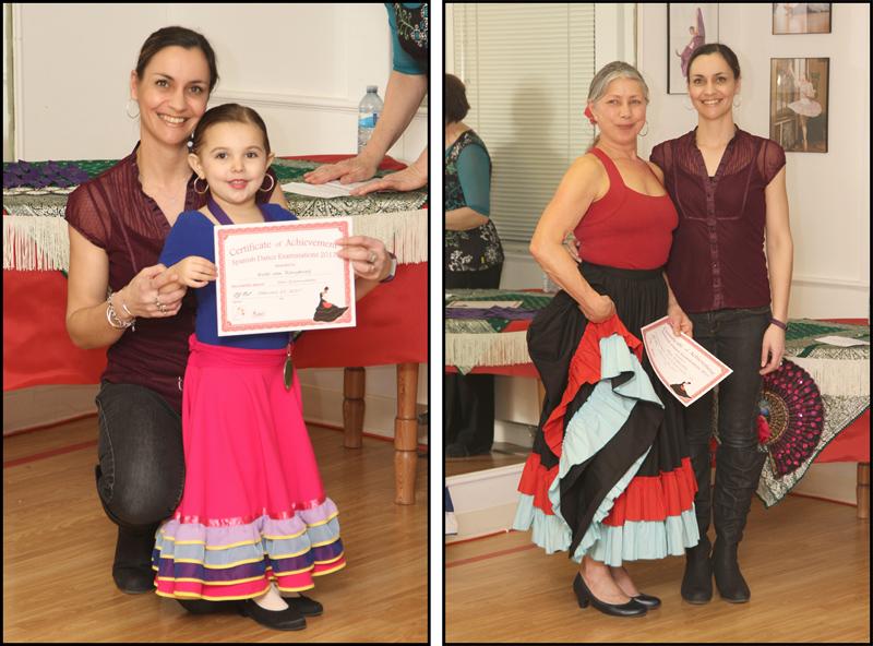 """Vanessa van Rensburg with """"youngest"""" student: Kate van Rensburg and """"bravest"""" student: Barb Scapinello."""