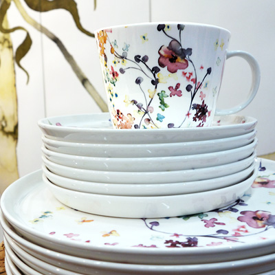 Flora  porcelain series for  Duka .