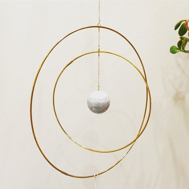 Spotted again in Nordic Buzz at #formex2016 after several sightings in Copenhagen over the summer. Kaja Skytte's galaxy globe in brass and marble. @kaja_skytte #nordicbuzz #kajaskytte #danishdesign #marbleandbrass #hangingdecor