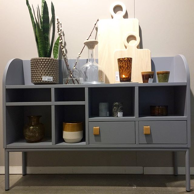 Nice compact little shelf in an unusual height that's not too deep. Like seeing things that defy the norm. @formexstockholm @bloomingville_interiors  #danishdesign #bloomingville #shelfcabinetthingy