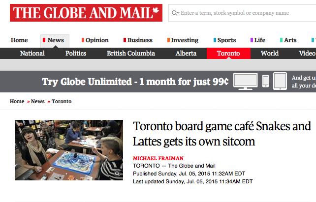 Globe and Mail Article - M. Fraiman