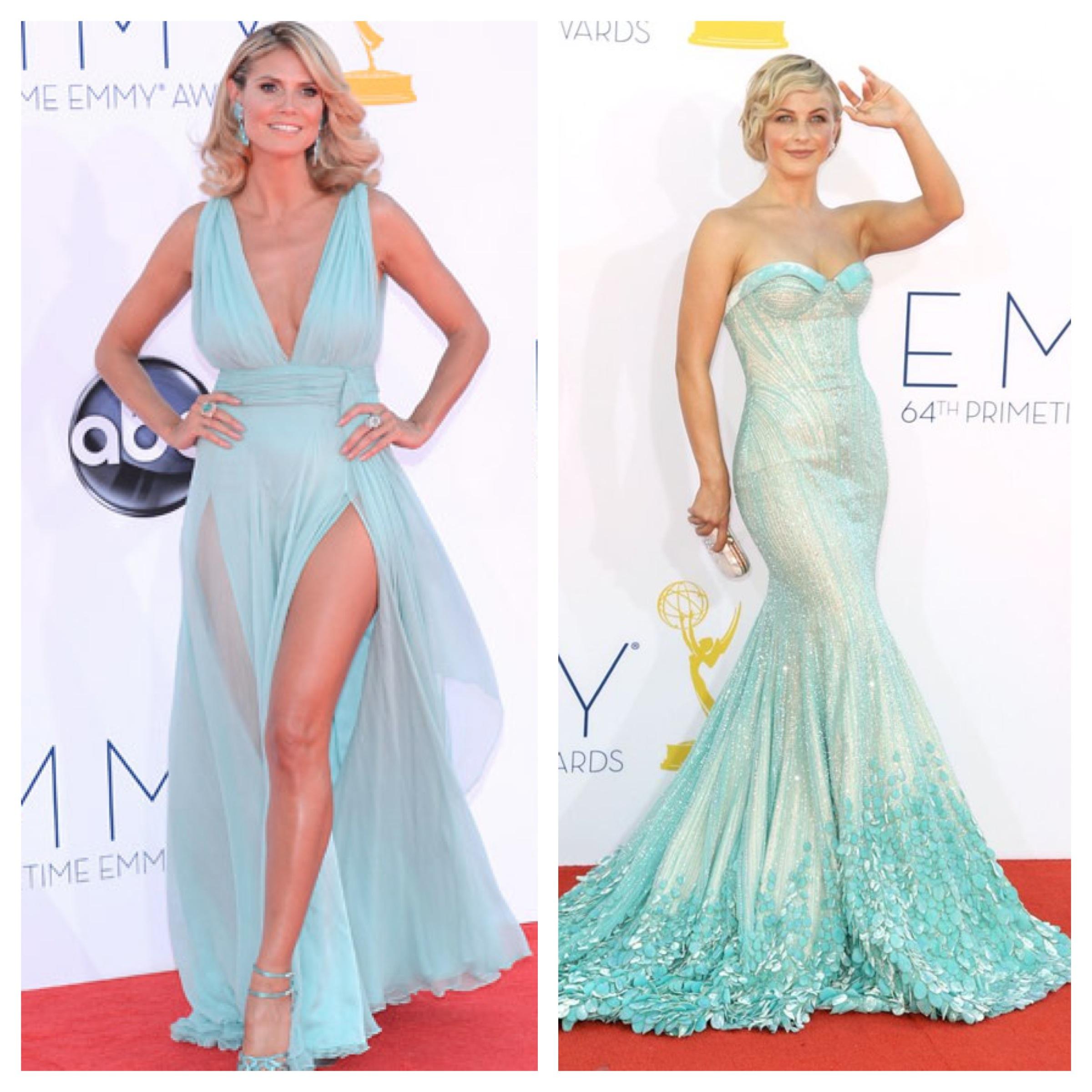 Heidi Klum mint dress