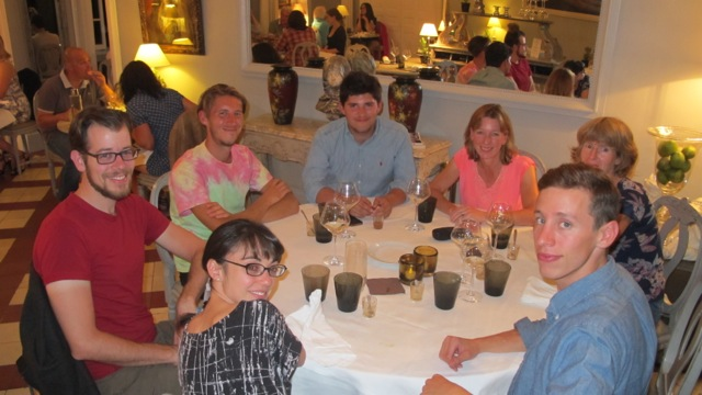 Group dinner at Chateau de Mazan at the end of Day One