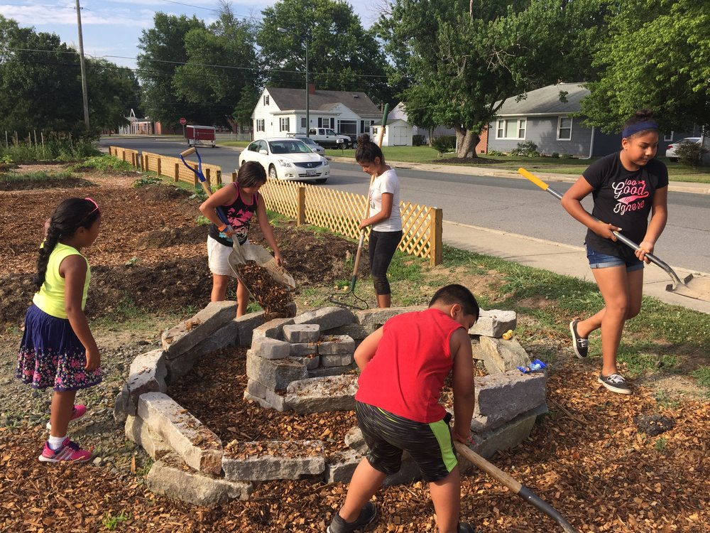 The Jowite Community and Youth Garden is a new 2017 Dock Street Foundation project.