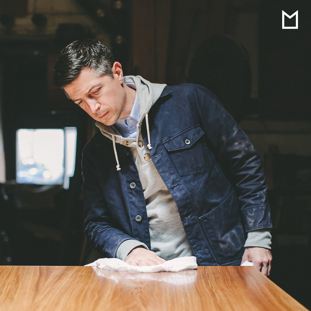 Everyday Wares for the Modern Workplace     Presented by   Taylor Stitch    Jared Rusten is a long time friend and someone we admire for his passion and his dedication to his craft. He's never wavered and always builds beautiful pieces He's pictured here in our blue oxford, hooded sweatshirt and work jacket. He's a man with a uniform.    —  T  aylor Stitch