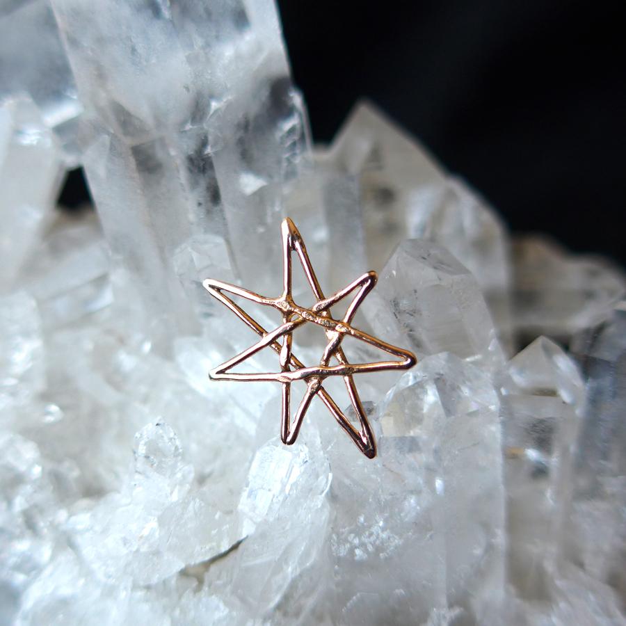 rose-gold-star-earring