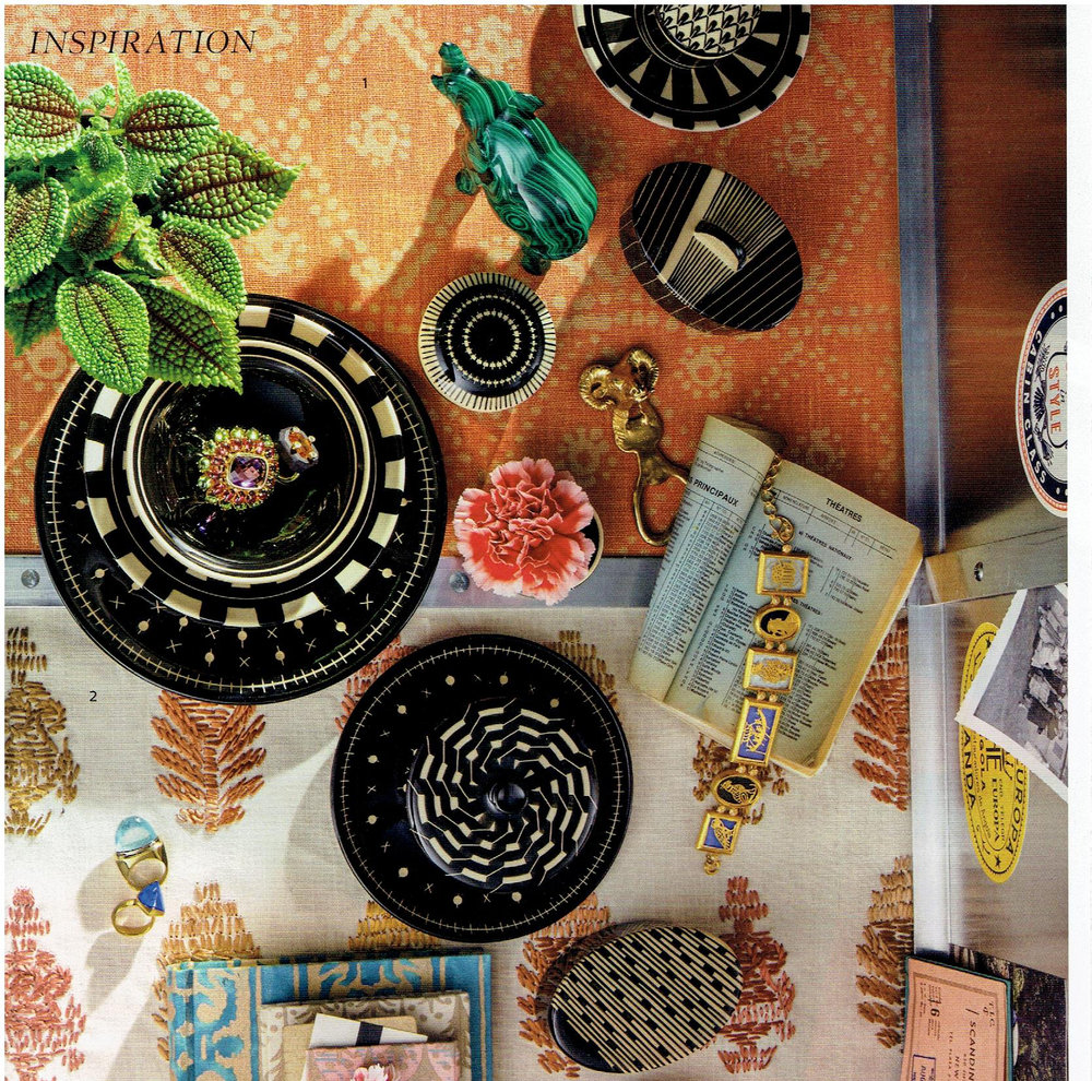 Elle Decor June 2016 : Inspiration :  ZigZag (Coral)