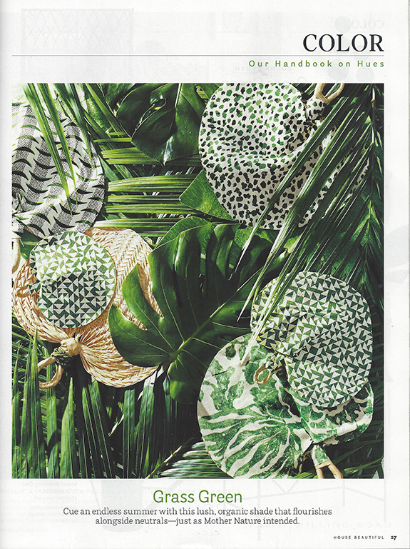 House Beautiful May 2016 :  Exotic Bloom (Viridian Green )