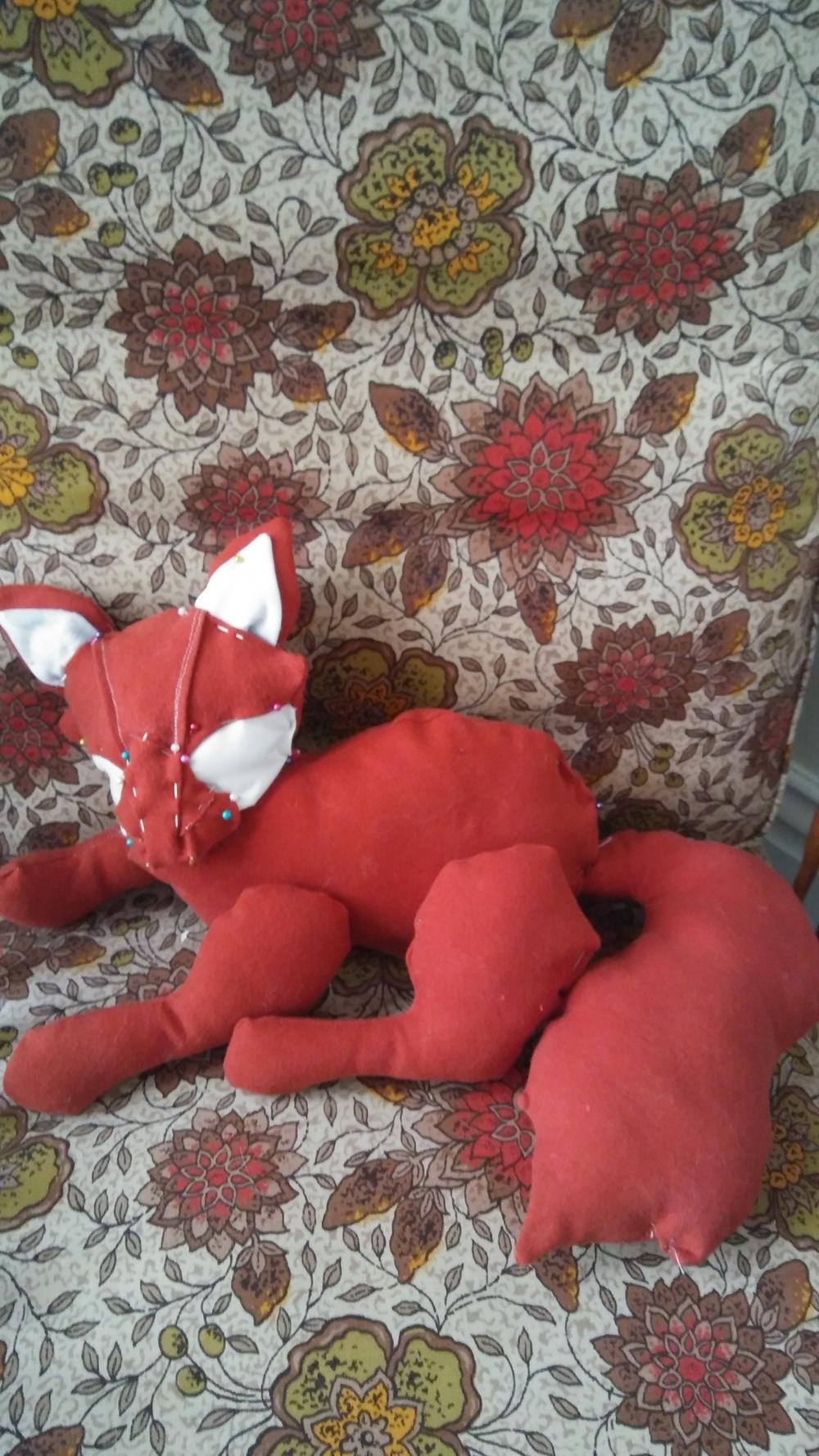 WIP of Fox & her cub
